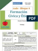 Plan 5to Grado - Bloque 4 Formación C y E