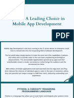 Python a Leading Choice in Mobile App Development