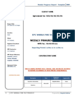 Weekly Progress Report - Template