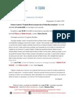 COMUNICAT DE PRESĂ VERNISAJE 7 martie 2020
