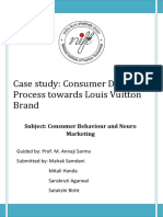 Interpretation of consumer behaviour of LV