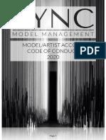 SYNC Model Management Model/Artist Accord - 2020