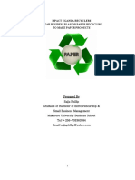 PAPER RECYCLING BUSINESS PLAN