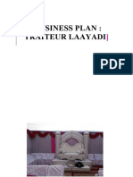 Canevas de Business Plan Traiteur Laayadi