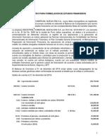 MODELO DE ENUNCIADO PARA FORMULACION DE ESTADOS FINANCIEROS