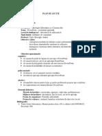 Plan de lecție -TIC