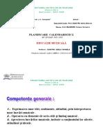 Cls. a VII-a PLANIF. Ed.MUZ. 2019  -2020