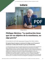 """Philippe Meirieu_ """"La motivación tiene que ser un objetivo de la enseñanza, no algo previo"""" _ la diaria (1)"""