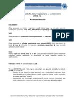 Definiții de caz și recomandări de prioritizare a testării pentru COVID-19_Actualizare 19.06.2020