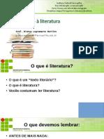 Apresentação introdução à literatura