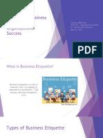 BUSI 472 - Business Etiquette PowerPoint