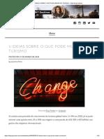 5 IDEIAS SOBRE O QUE PODE MUDAR NO TURISMO – Marketing Destinos
