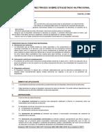Etiquetado Nutricional - Normas Codex Alimentarius