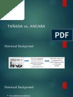 TAÑADA vs ANGARA