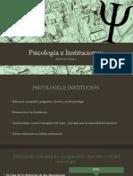 Psicología e Instituciones
