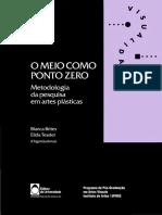 O meio como ponto zero_pesquisa em artes plasticas.pdf