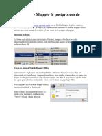 GPS Mobile Mapper 6, postproceso de datos