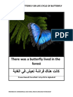 Story of Butterfly or Life Cycle of Butterfly in Arabic