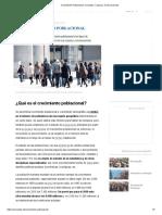 Crecimiento Poblacional_ Concepto, Causas y Consecuencias