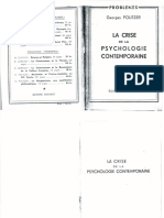 La Crise de La Psychologie Contemporaine - Georges Politzer