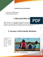 Acceso y Entorno Basicos de Word
