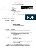 Libspeak 2011 Program