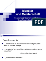 Identität Und Meisterschaft Analyse in Webern Streichquartett