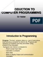 chapter#1 Introduction to Programming