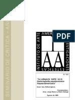 RAFAEL IGLESIA - La categoría ´´estilo´´ en la historiografía arquitectónica