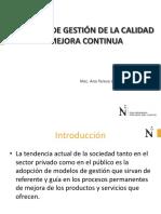 MODELOS DE GESTIÓN DE LA CALIDAD Y MEJORA CONTINUA 2019