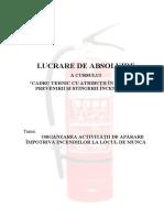ORGANIZARE AII_LOC DE MUNCA