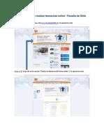 Protocolo para realizar denuncias online
