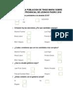 ENCUESTA A LA POBLACION DE TINGO MARIA SOBRE LA ELECCION PROVINCIAL DE LEONCIO PADRO 2018.docx