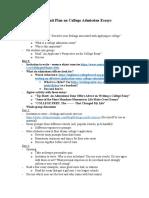 ugp unit on college admission essays