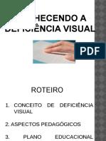 CONHECENDO A DEFICIÊNCIA VISUAL WEBPALESTRA