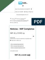 NIIF 16 y COVID-19