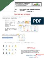 CUARTA  ACTIVIDADES DE TECNOLOGIA GRADO TERCERO