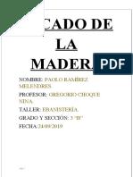 SECADO DE MADERA