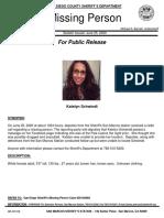 Katelyn Schwindt Press Release