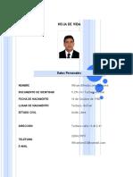 HOJA DE VIDA DE WILSON LARA