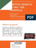 Cae Writing Proposal