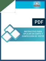 EPT-INSTRUCTIVO PARA APLICAR EN CORTE Y CONFECCIÓN DE VESTIR