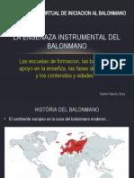 CAPACITACION VIRTUAL DE INICIACION AL BALONMANO - LA ENSENAZA INSTRUMENTAL DEL BALONMANO.pptx