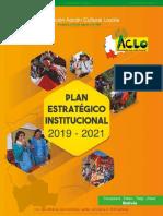 PLAN ESTRATEGICO INSTITUCIONAL 2019-2021 FUNDACION ACLO
