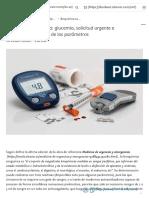 Bioquímica sanguínea_ glucemia, solicitud urgente e interpretación clínica de los parámetros