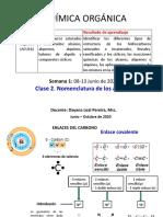 Clase 2 Formulas moleculares y nomenclatura de alcanos pdf