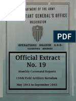 158th Field Artillery Official Extract No. 19