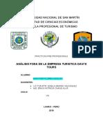 -ANÁLISIS FODA DE LA EMPRESA TURÍSTICA DAVI'S TOURS