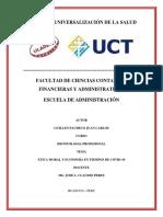 ETICA MORAL Y ECONOMIA EN TIEMPO DE COVID-19