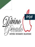 Logo Divino Pecado Solo Manzana